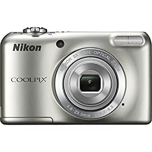 Nikon COOLPIX L27 16.1 Megapixel 5x Zoom HD Video Digital Camera Silver (Certified Refurbished)