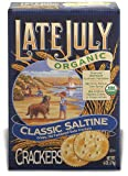 Late July Organic Round Saltine Crackers, 6-Ounce Boxes (Pack of 12)