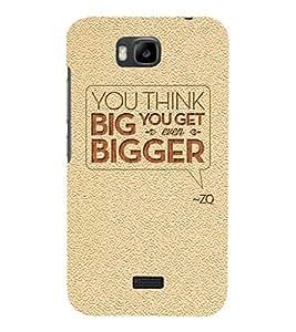 Fuson Premium Printed Hard Plastic Back Case Cover for Huawei Honor Bee