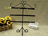 Market-one Fashion Black Earring Stand Holder Necklace Display Rack