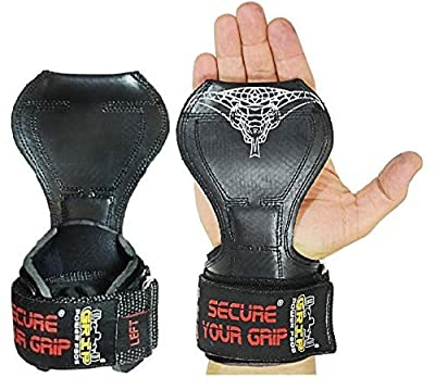 Cobra GripsTM V2 Weight Lifting Gloves, Heavy Duty Straps, Alternative to Power Lifting Hooks, Power Lifting, For Deadlifts With Built in Adjustable Neoprene Padded Wrist Wrap Support . *PATENTED* - Product From Grip Power Pads®. No-Slip Padded Straps Fo