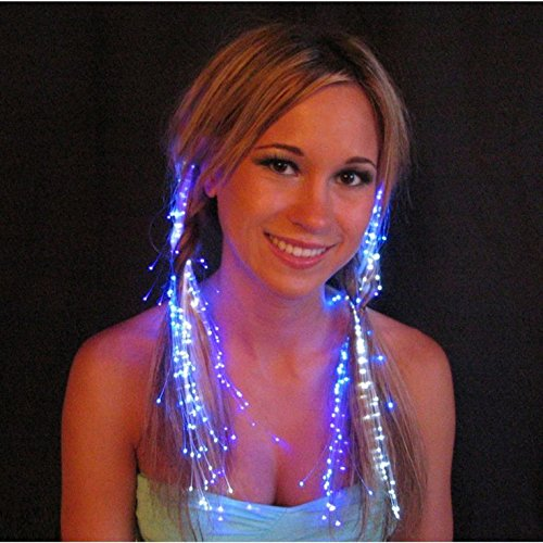 Glowbys LED Fiber Optic Light-Up Hair Barrette - Blue (Blue Fiber Optic Hair Lights compare prices)