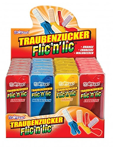 Flic `n´ Lic Traubenzucker Lutscher Lolly 24 Stück