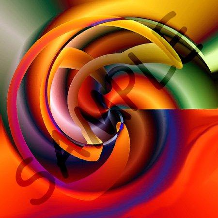Digital Artwork Design 7 – 10×10 Wall Clock