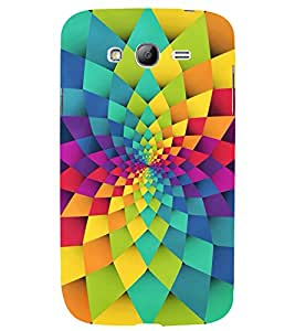 GEOMETRICAL FLOWER PATTERN 3D Hard Polycarbonate Designer Back Case Cover for Samsung Galaxy Grand Neo Plus :: Samsung Galaxy Grand Neo Plus i9060i