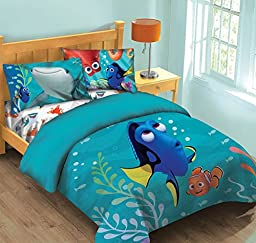 Disney Finding Dory Fish Finder Twin Comforter Set w/Fitted Sheet