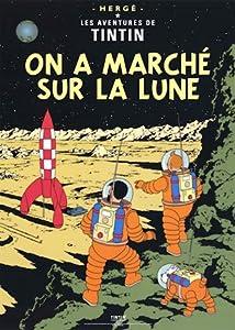 Tintin poster - On a marche sur la lune