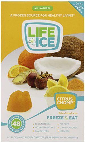 Lifeice Bite-Sized Ices, Citrus Chomp, 4 Ounce