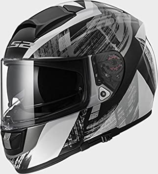 LS2 FF397 Vector FT2 Cosmos White Black Motorcycle Helmet