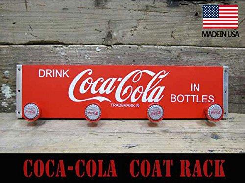 コカ・コーラ(Coca-Cola) ウッド コートフックボード/ハンガーフック(壁掛け)コカコーラグッズ バー カフェ 玄関 アメリカ雑貨 アメリカン雑貨 ダイナー