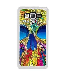 Colourful Skull 2D Hard Polycarbonate Designer Back Case Cover for Samsung Galaxy Grand Prime :: Samsung Galaxy Grand Prime Duos :: Samsung Galaxy Grand Prime G530F G530FZ G530Y G530H G530FZ/DS