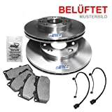 Brake discs vented Ã284 MM + Brake pads front axle ALFA ROMEO 156 932 2.0 16V TWIN SPARK 2.4 JTD 2.5 V6 24V 10.97-02.00, GTV 2.0 V6 TURBO 07.95-09.98, SPIDER 2.0 V6 TURBO 1998-05