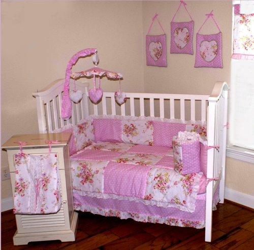 Nursery-To-Go Cottage Floral Bedding 10 Piece Crib Set