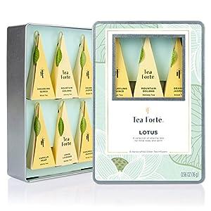 NEW Tea Forte Medium Tin Sampler Collection - Lotus