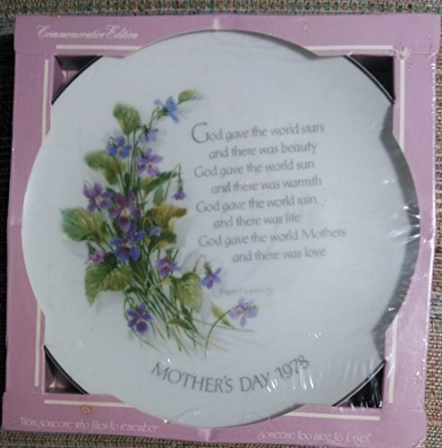 Mother's Day 1978 Commemorative Edition Plate by Robert Laessig