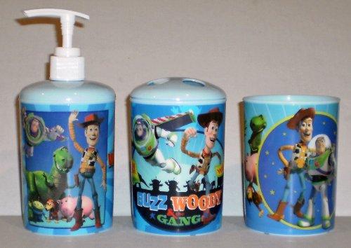 Disney Pixar Toy Story 3-Piece Bathroom Accessories Set