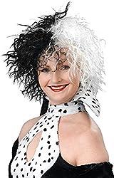 Christmas Tv Book Character Fancy Party Dog Lovin' Diva Cruella Devil Wig Uk from Bristol Novelty