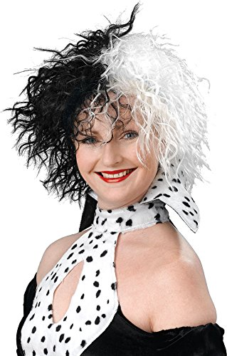 Halloween Tv Book Character Fancy Party Dog Lovin' Diva Cruella De Vil Wig