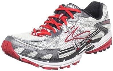 Brooks Men's Ravenna 2 Running Shoe,White/Silver/Shadow/Tango Red/Black,10.5 D(M) US