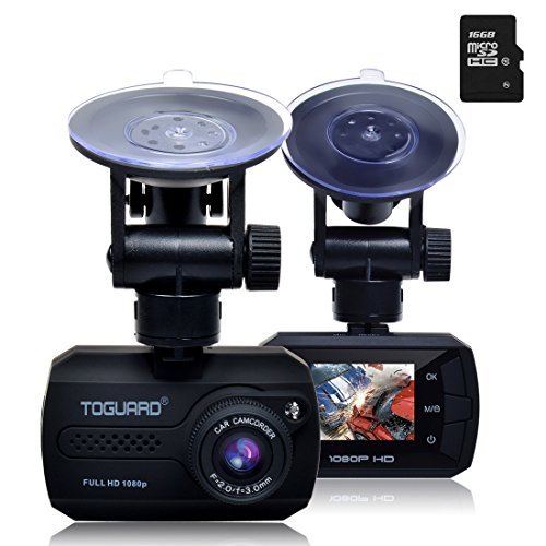 TOGUARD-Mini-Full-HD-1080p-voiture-avec-tableau-de-bord-Dash-Cam-DVR-Appareil-photo-intgr-de-capteur-G-Vision-Nocturne-Dtection-de-Mouvement-Enregistrement-en-boucle16G-gratuitement-carte-sd