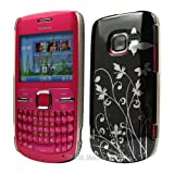 Black Butterfly Hard Case Cover For Nokia C3-00 C3