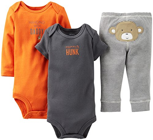 "Carter'S Baby Boys' 3 Piece ""Take Me Away"" Set (Baby) - Mommys Hunk - Orange - 12 Months front-157712"