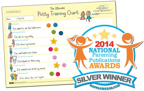 Potty Training Chart - The Ultimate Potty Training Reward Chart - Award Winning 2014 National Parenting Award - Encourages Children to Use the Potty By Means of Positive Reinforcement