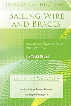 Organizational Effectiveness: Bailing Wire And Braces: Lessons On Organizational Effectiveness