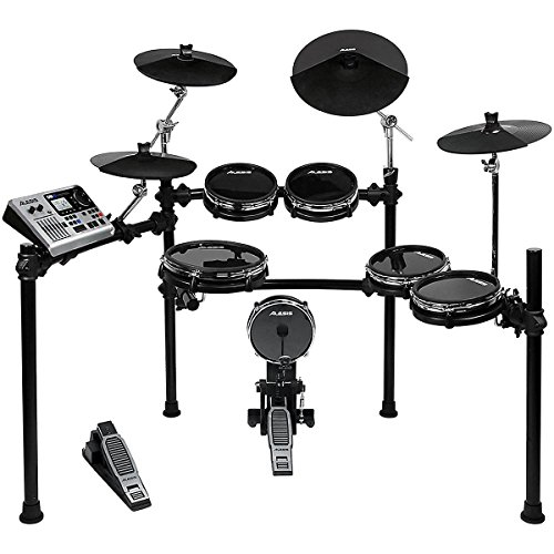 alesis-dm10-studio-kit-ten-piece-professional-electronic-drum-set-with-black-aluminum-stagerack-myla