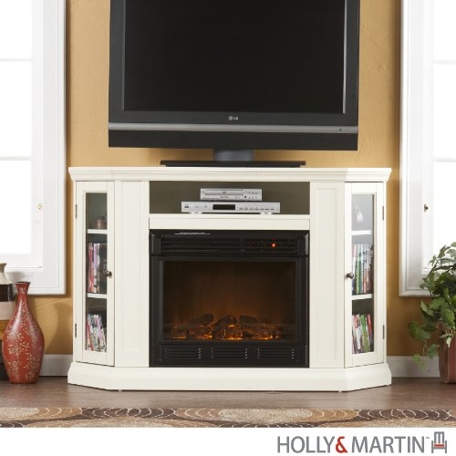 Holly & Martin Ponoma Convertible Media Electric Fireplace, IVORY picture B00917V020.jpg