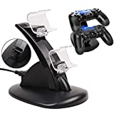 SUNKY PS4 / PS4 Slim / PS4 Pro Controller Charger, LED Gaming Console Charging Stand USB Dock Station Mount Cradle for Sony Playstation 4