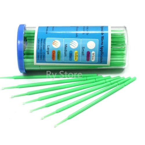 S / M / L Disposable Micro Brush Swab Applicators Eyelash Extension 100ps Choose (L 3.0mm) (Micro Brush Swab compare prices)