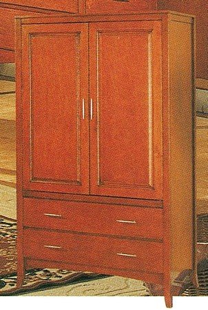 Cheap Contemporary Style Dark Maple Finish Solid Wood TV Armoire Stand (VF_5766)
