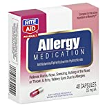 Rite Aid Pharmacy Allergy Medication, 25 mg, Capsules, 48 capsules