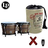 Latin Percussion LP Rumba Bongo (LP608-MOCHA) with LP Rumba Shaker, Claves & LP Rumba Bongo Bag