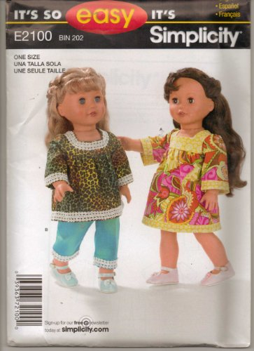 Doll Dolls Clothes Pattern One Sixe Fits 18