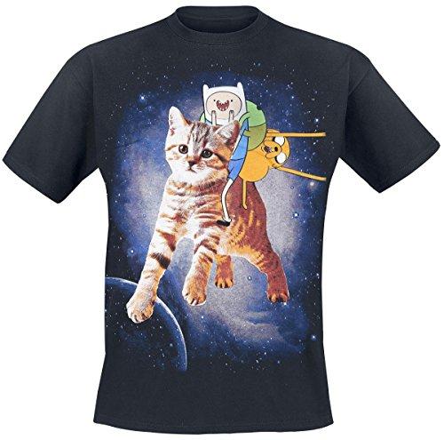 Adventure Time Cat T-Shirt nero S