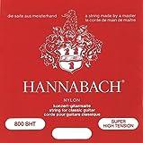 Hannabach Serie 800 - Cuerda de guitarra (tensión superalta), color plateado