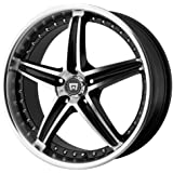 "Motegi Racing MR107 Gloss Black Wheel With Machined Face (17x7.5""/5x114.3mm, +45mm offset)"