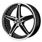 Motegi Racing Series MR107 Gloss Black Finish Machined Wheel (17x7.5/5x4.5)
