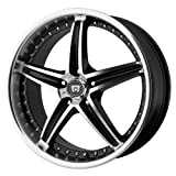 Motegi Racing Series MR107 Gloss Black Finish Machined Wheel (17×7.5″/5×4.5″)
