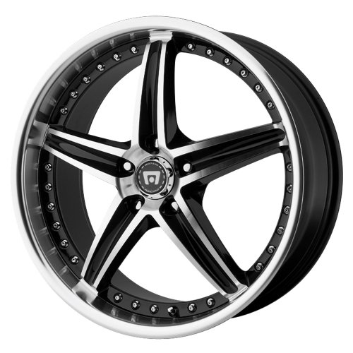 Motegi Racing Series MR107 Gloss Black Finish Machined - 17 X 7.5 Inch Wheel
