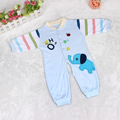 """SUPPION Baby Boy Girl Romper Elephant Infant Clothes Outfit (3-5Months/ Bust:22""""/ Length:20.4""""/ Shoulder:9.4"""", Pink)"""
