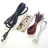 Easyget Zero Delay Arcade Game USB Encoder PC to Joystick for MAME & Raspberry Pi Retropie Projects perfect fit SANWA Parts