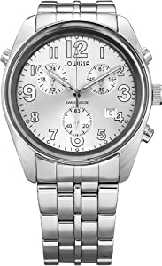 Jowissa Men's J7.004.L Ginebra Silver Stainless Steel Chronograph Watch