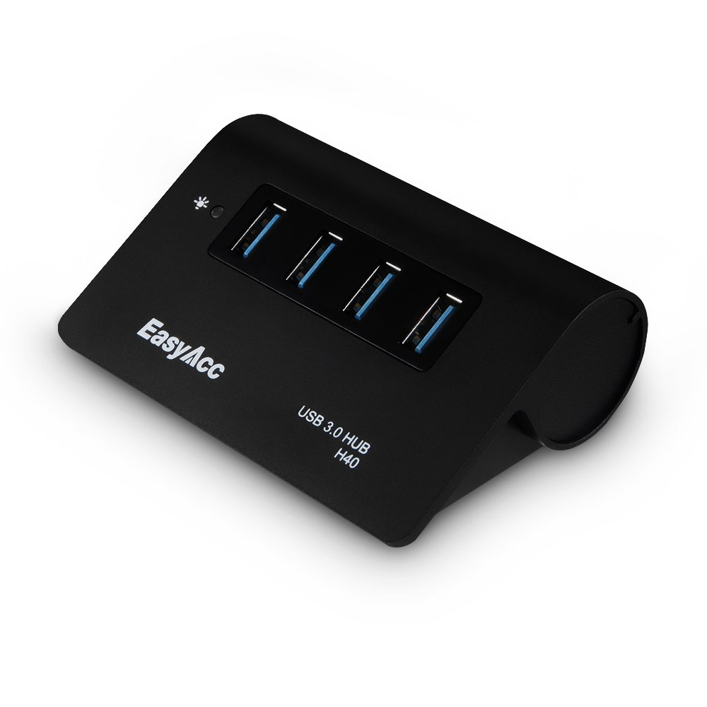 EasyAcc USB Super Speed USB 3.0 4 Port Hub für MacBooks ...