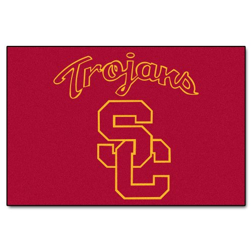 FANMATS NCAA Univ of Southern California Trojans Nylon Face Starter Rug