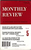 MONTHLY REVIEW Vol. 48 No. 5, October 1996 - Aijaz Ahmad Interview: An Independent Socialist Magazine
