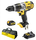 Dewalt DCD985 DCD985N 18V Xr Li-Ion 3 Speed Xrp Combi Drill, 1 DCB180 Battery, 240V DCB105 Charger And Bag