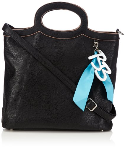 Betty Barclay Womens Anya Shoulder Bag Black Schwarz (black) Size: 31x29x10 cm (B x H x T)